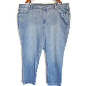 AVENUE Denim Light Acid Wash Average Skinny Jeans